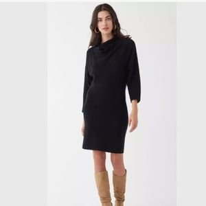Splendid cowl neck Sweater dress $248 black Daphne